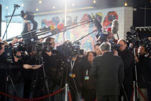Drukte bij de Afghanistan-top in 2009. (PR)