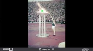 Paavo Nurmi ontsteekt de olympische vlam in 1952. | Foto: Helsinki City Museum/CC BY